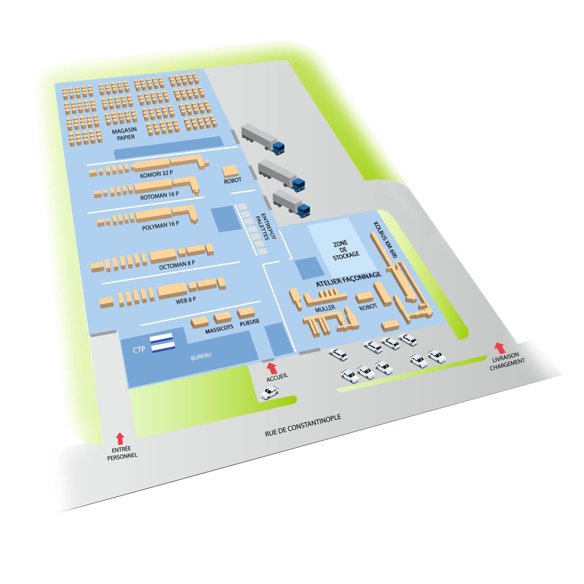 D couvrez notre site industriel imprimerie mordacq for Plans d imprimerie