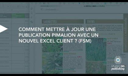 Comment mettre à jour une publication Pimalion avec un nouvel excel client ? (FSM 1)