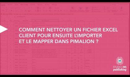 Comment nettoyer un fichier excel client pour ensuite l'importer dans Pimalion ?